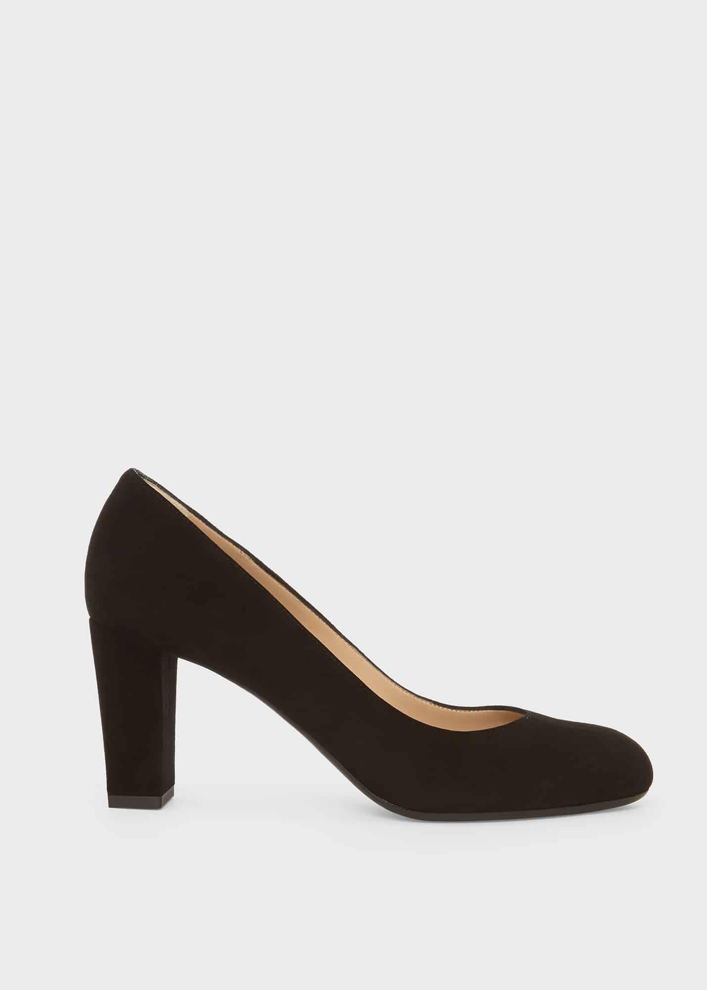 Hobbs Women Sonia Suede Block Heel Court Shoes