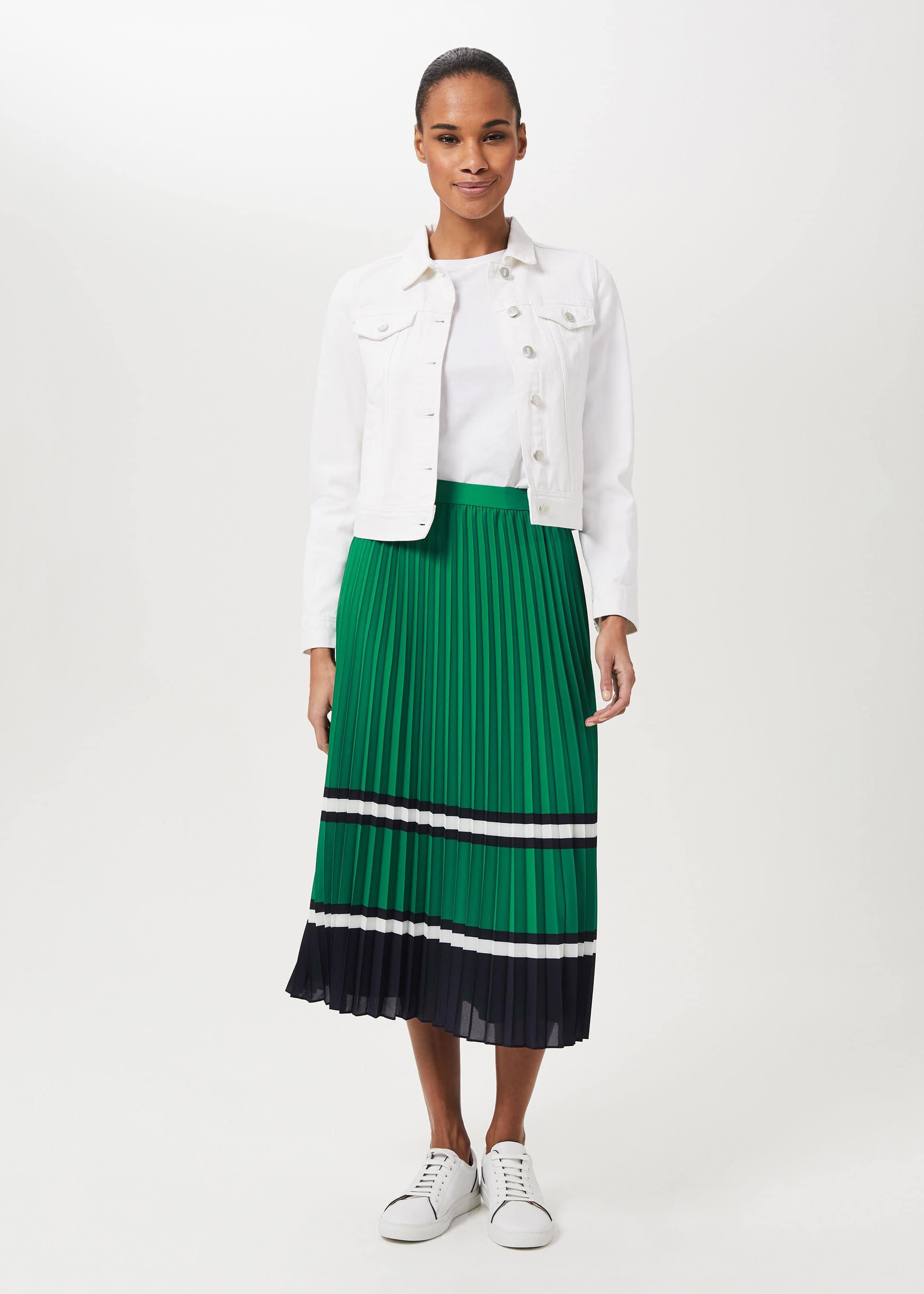 Hobbs Women Bess Pleated Midi Skirt